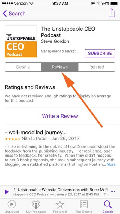 How to Leave a Podcast Review in iTunes   Unstoppable CEO